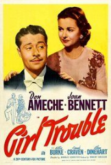 Girl Trouble 1942 DVD -  Don Ameche / Joan Bennett